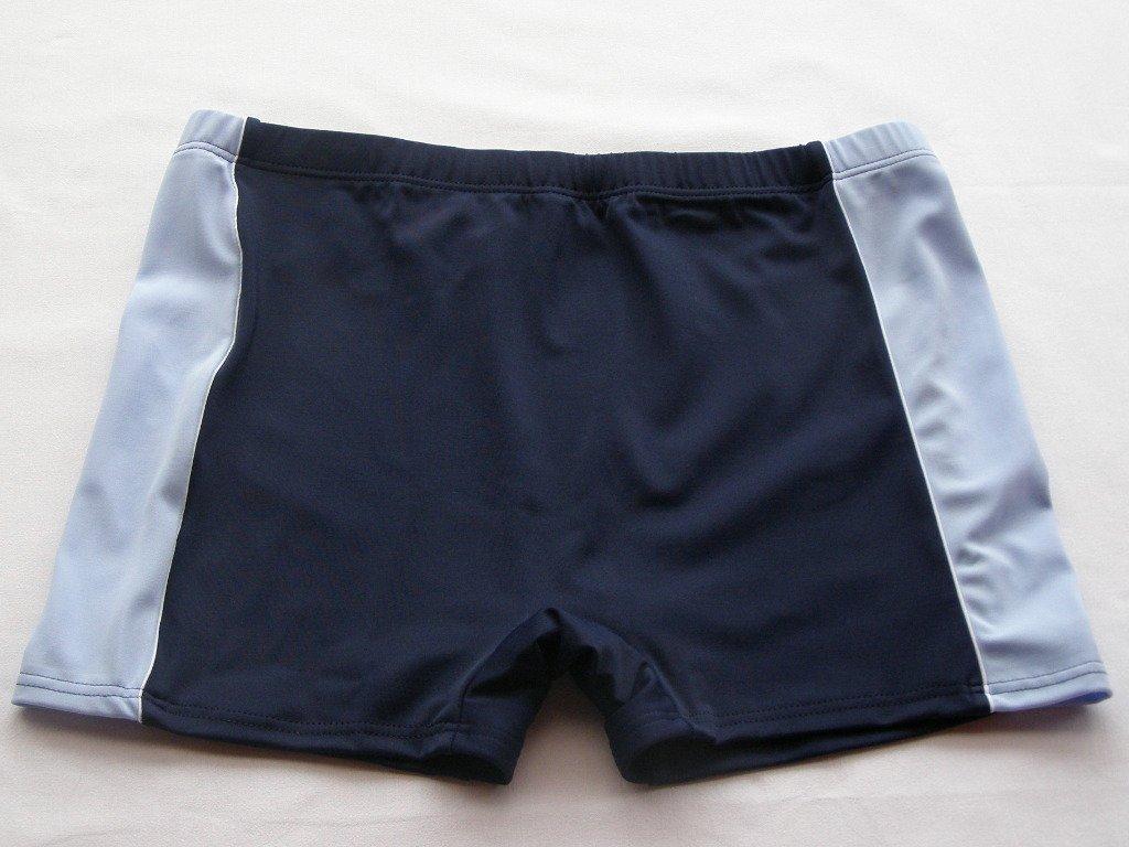Pánské plavky s nohavičkou 0107-světle modrý pruh