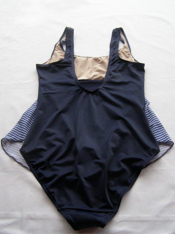 Těhotenské plavky 0323-modrá kostička-zadek