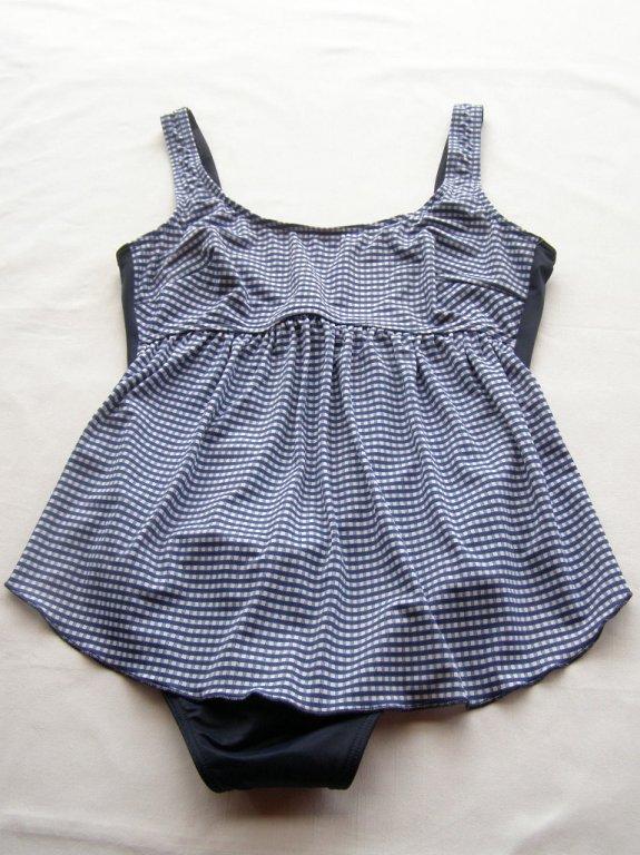 Těhotenské plavky 0323-modrá kostička