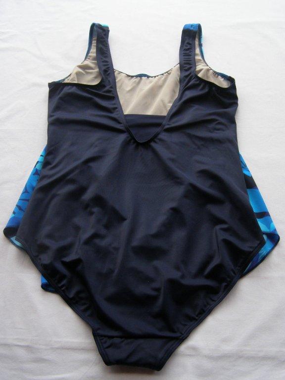 Těhotenské plavky 0323-modrá květ-zadek