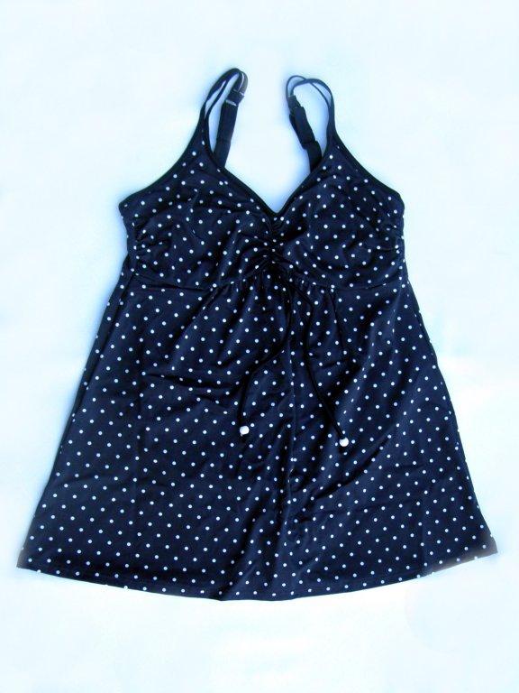 Těhotenské plavky 0323-modrá puntík