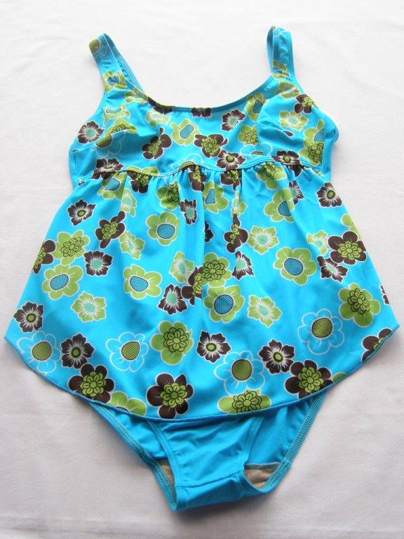 Těhotenské plavky 0323-modrá kostička ... 07bc2b3975